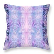 Floral Abstract Design-special Silk Fabric Throw Pillow
