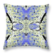 Floral Mural Throw Pillow