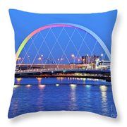 Glasgow, Scotland Throw Pillow