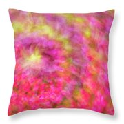 Impression Series - Floral Galaxies Throw Pillow by Ranjay Mitra