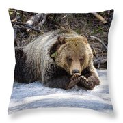 10 Inch Nails Throw Pillow