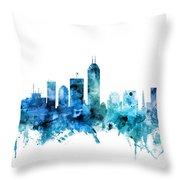 Indianapolis Indiana Skyline Throw Pillow
