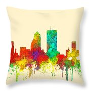 Jacksonville Florida Skyline Throw Pillow