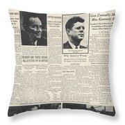 John F Kennedy (1917-1963) Throw Pillow