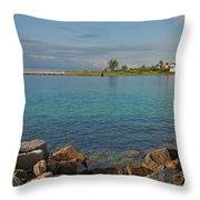 10- Lake Worth Inlet Throw Pillow