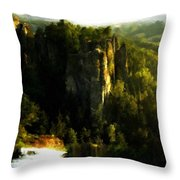Landscape Modern Throw Pillow