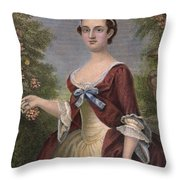Martha Washington Throw Pillow by Granger