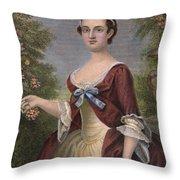 Martha Washington Throw Pillow by Granger