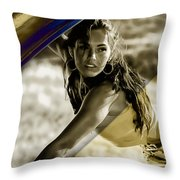 Megan Fox Collection Throw Pillow