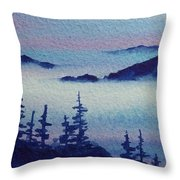 10 Mile Overlook Throw Pillow