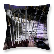 10 Of Swords Throw Pillow
