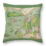 Old Map Throw Pillow