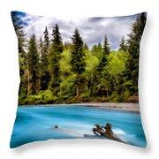 Original Landscape Throw Pillow