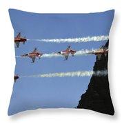 Patrouille Suisse Throw Pillow