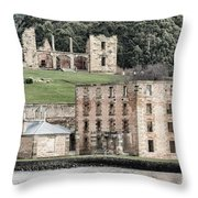 Port Arthur Building In Tasmania, Australia. Throw Pillow