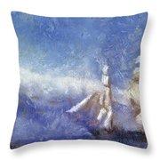 Ships Ahoy Throw Pillow