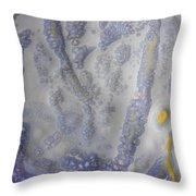 10. Speckled Blue And Yellow Glaze Painting Throw Pillow