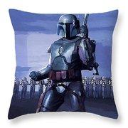 Star Wars Episode 2 Poster Throw Pillow