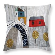 Stari Most, Mostar Throw Pillow