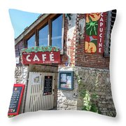 Street Scenes From Giverny France Throw Pillow