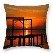Sunrise / Sunset / Indian River Throw Pillow