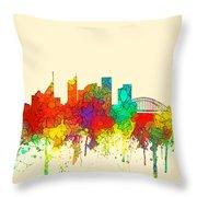 Sydney Australia Skyline Throw Pillow