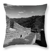 The Great Wall Of China Near Jinshanling Village, Beijing Throw Pillow