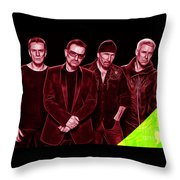 U2 Collection Throw Pillow