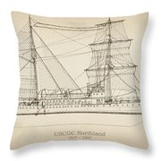 U.s. Coast Guard Cutter Northland Throw Pillow
