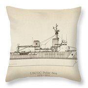 U.s. Coast Guard Cutter Polar Sea Throw Pillow