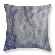 10. V1 Speckled Blue And Yellow Glaze Painting Throw Pillow