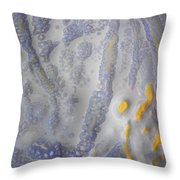 10. V2 Speckled Blue And Yellow Glaze Painting Throw Pillow
