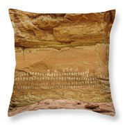 100 Hands Pictograph Panel Throw Pillow