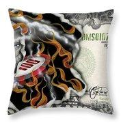 $1000 Bill Winning Big Throw Pillow