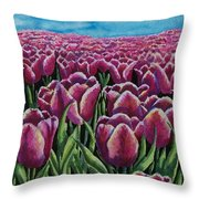 1000 Tulpis Throw Pillow