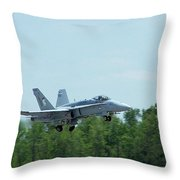 100_3413 F-18 Hornet Throw Pillow