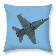 100_3445 F-18 Hornet Throw Pillow