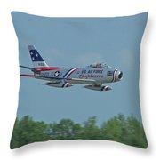 100_4272 F-86 Sabre Fighter Jet Throw Pillow