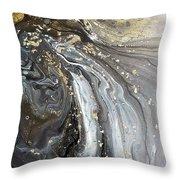 #1006 Gold Waves Throw Pillow