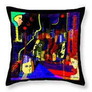 103 -   Psychedelic City Night .. Throw Pillow