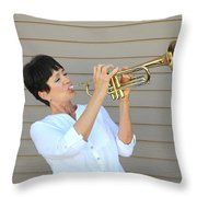 Jazz Musician. Throw Pillow