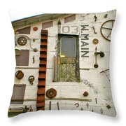 103 W. Main Throw Pillow by Sheep McTavish