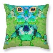 1045   Flower Owl 2017 Throw Pillow