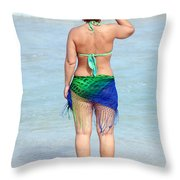 Female Beauty. Throw Pillow
