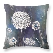#1083 Wild Flower #1 Throw Pillow