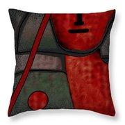 109  Minimalist Portrait .v.. Throw Pillow