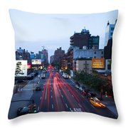 10th Avenue Lights Throw Pillow