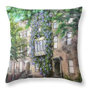 10th Street Wisteria Throw Pillow