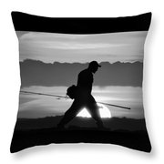 11-2-17--3904 Black And White, Don't Drop The Crystal Ball Throw Pillow