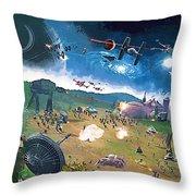 2 Star Wars Poster Throw Pillow